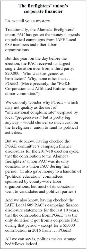Sidebar on PG&E