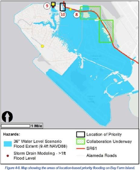 Location-based flooding Bay Farm